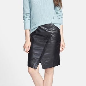 🆕 Halogen Seamed Leather Pencil Skirt